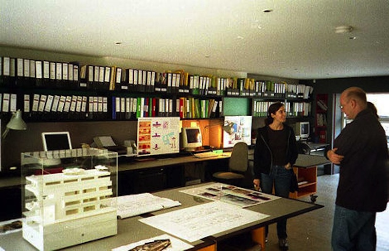 Miles of shelves and desks and three mobile work stations.