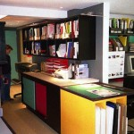 Project also included cupboards, plan chests, a kitchen and shelves for research library.