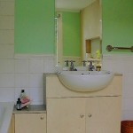Birch ply basin unit.