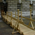 We first made this oak trestle ramp for one of the quads at the historic Greenwich site.