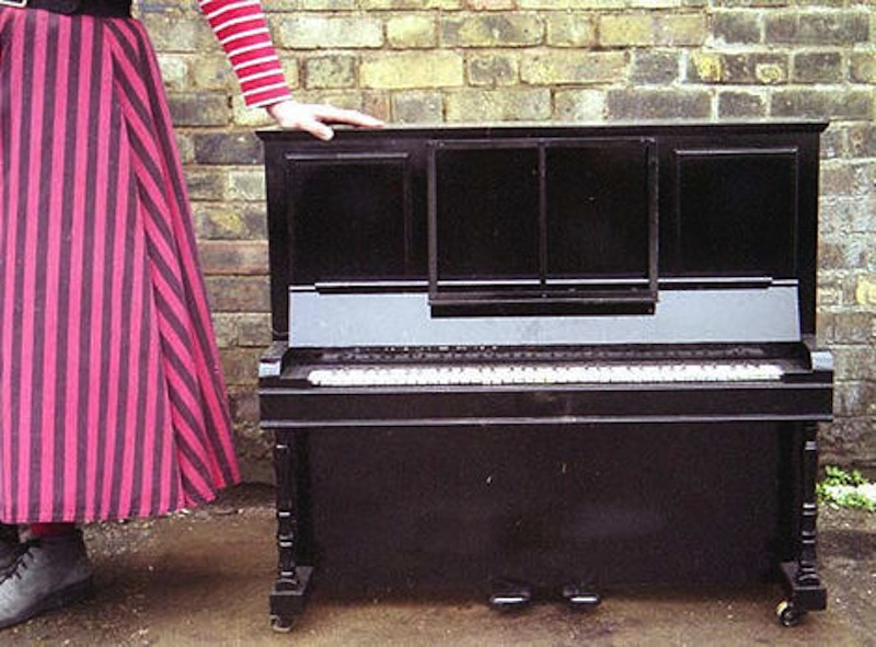 One third scale piano, with keys that could be depressed.