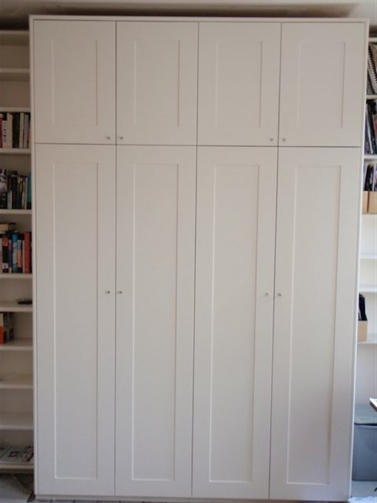 Huge wardroom of painted MDF with birch ply interior